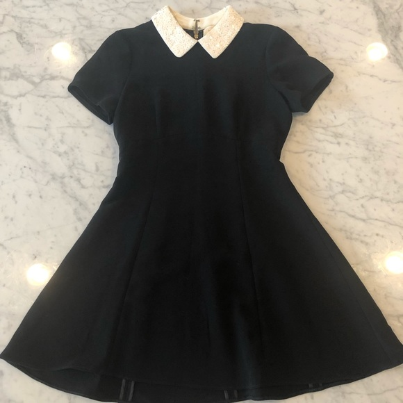 kate spade Dresses & Skirts - Black Kate Spade Dress with White Sequence Collar